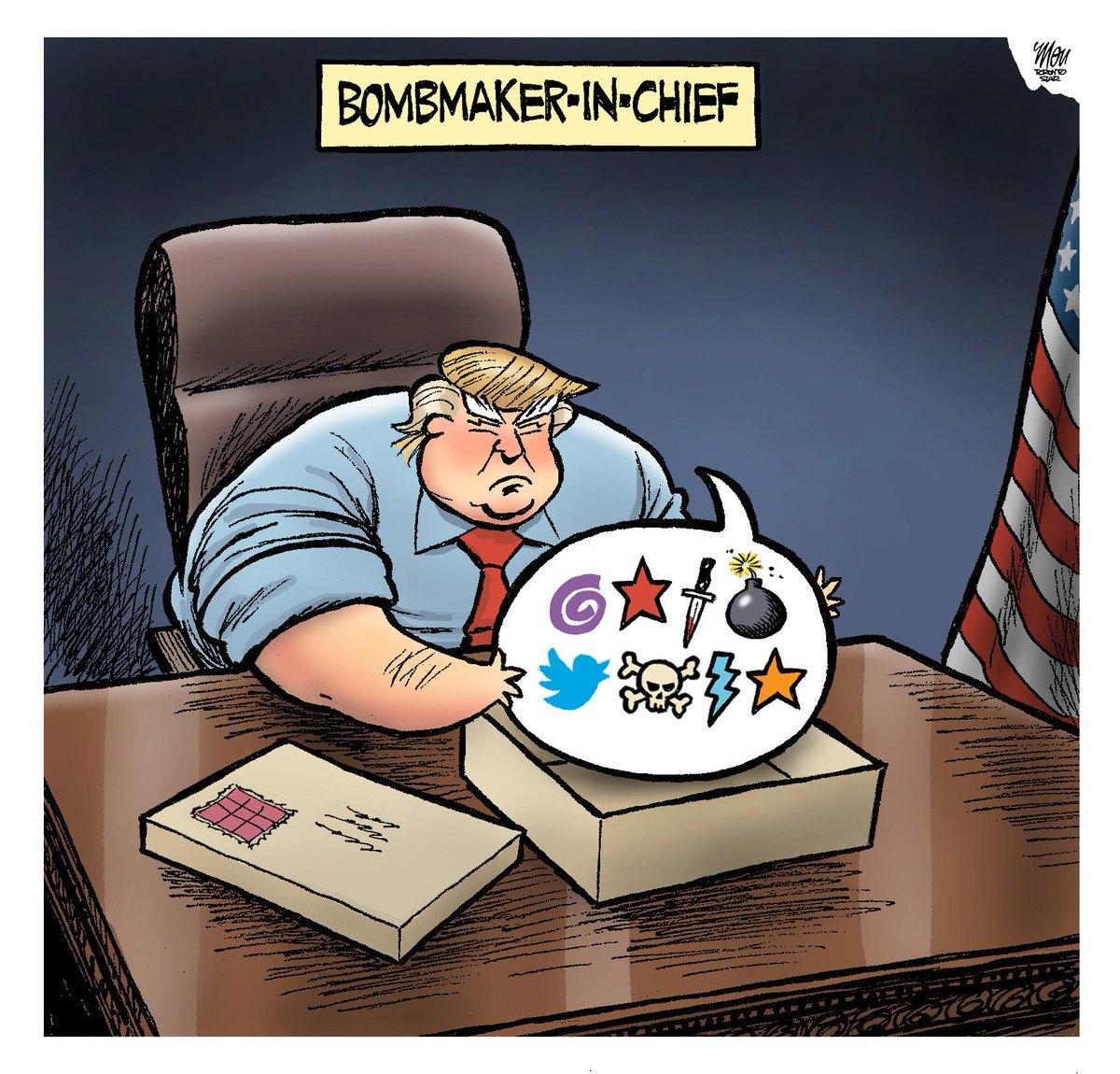 Here's Thursday's #bombthreat cartoon in @TorontoStar #magabomber