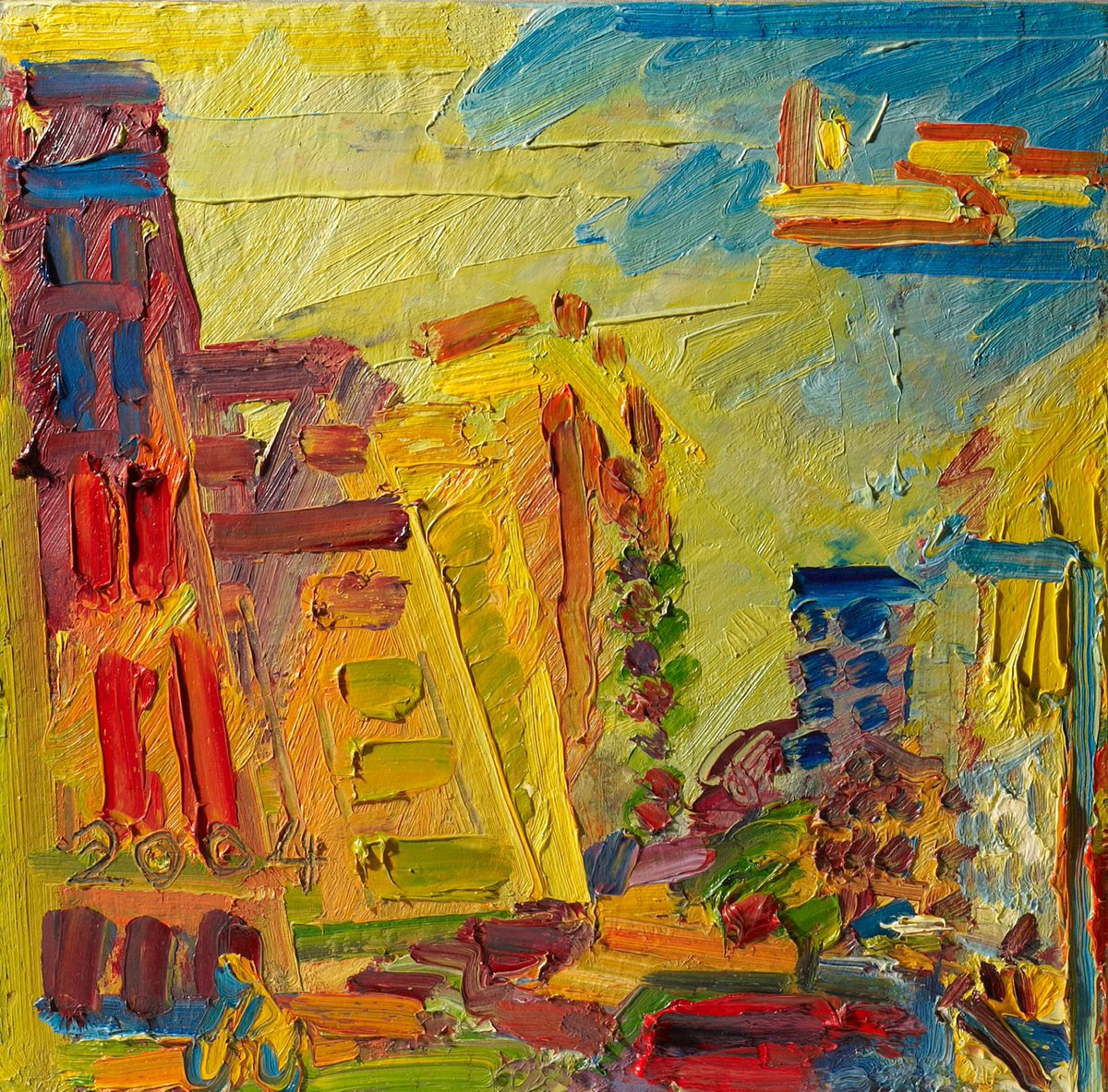 7 days to go for the opening of our new exhibition 'Acquisition Highlights since 2001'. This vibrant landscape by Frank Auerbach 'Mornington Crescent, Summer Morning II' was acquired in 2004 and featured in BBC's 'Your Paintings: Masterpieces in Schools' in 2013.