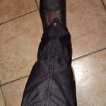 Image for the Tweet beginning: Trying on gaiters for a