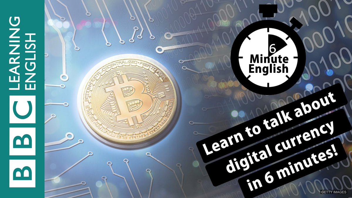 Learn to talk about digital currency in #6minutes https://t.co/bGxwwVhZXp  #learnenglish #bitcoin #vocabulary