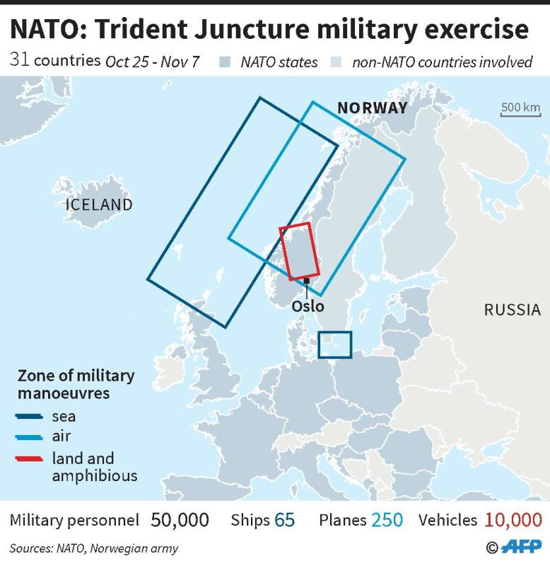 #Nato shows #Russia its military might in giant exercises  #TridentJuncture18 https://t.co/C9Ac49R7M8