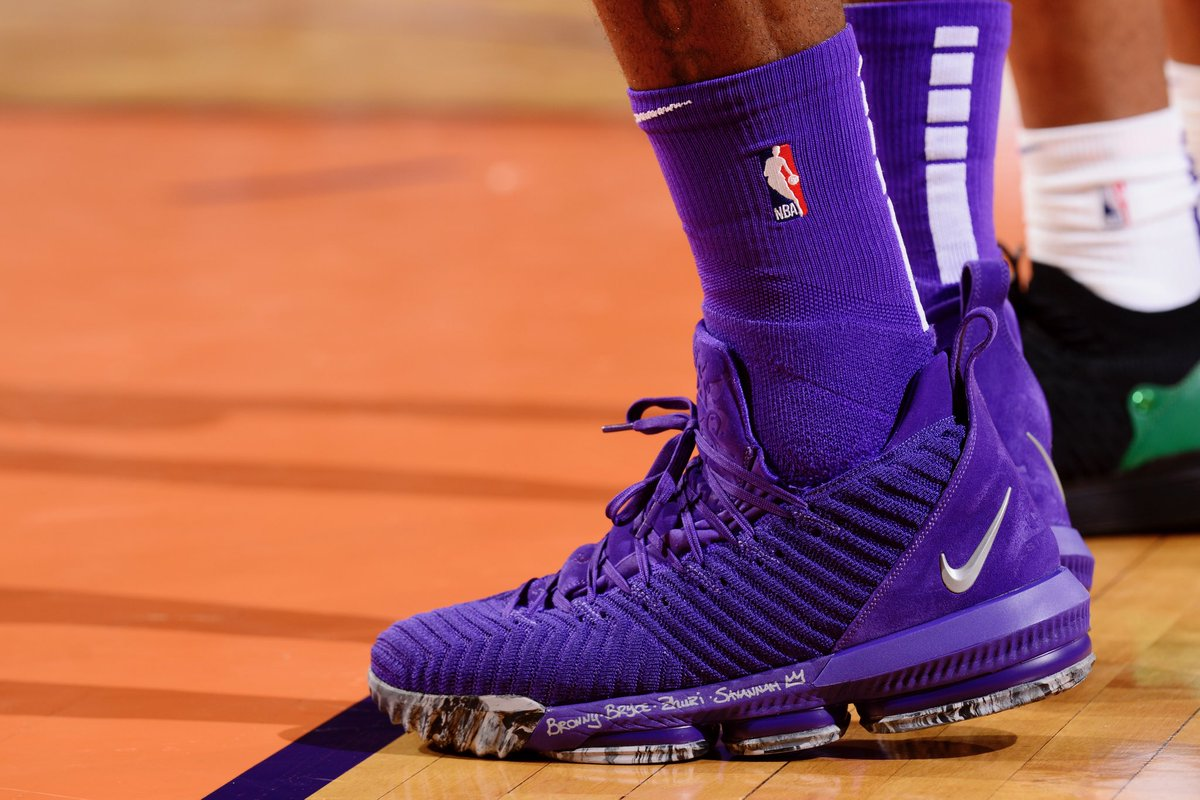 eb2bf0a8bfce everything is purple in a new nike lebron 16 to match the statement  uniforms barry gossage