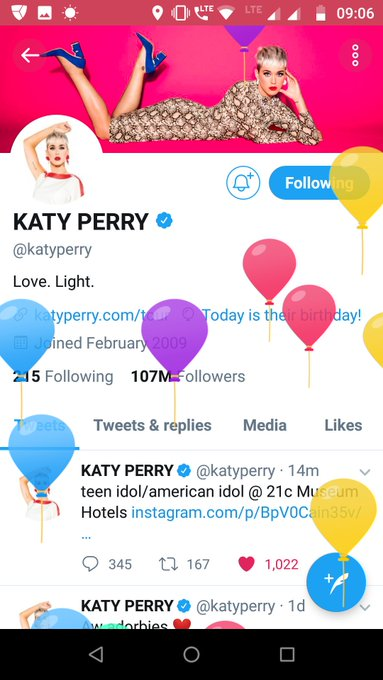 Happy birthday to you Katy perry!!