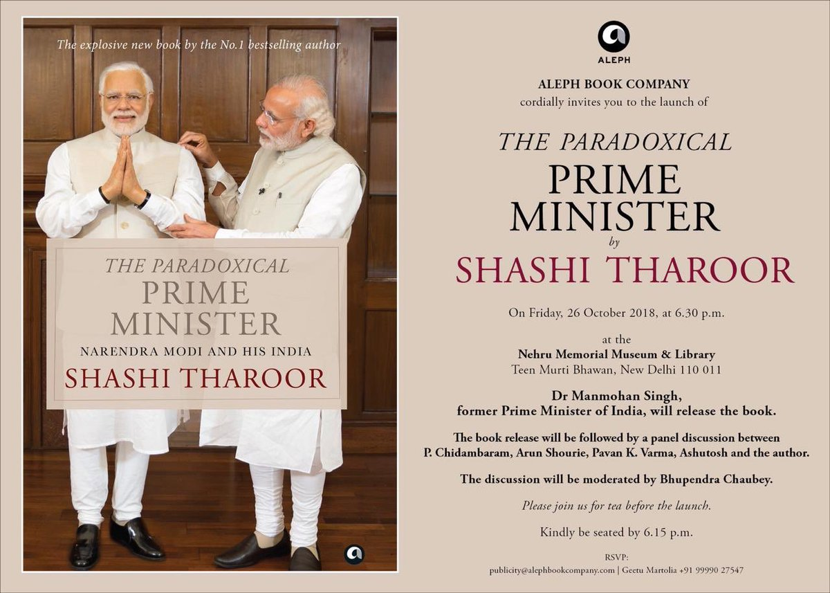 Ashutosh On Twitter The Book Launch Of Dr Shashi Tharoor S The