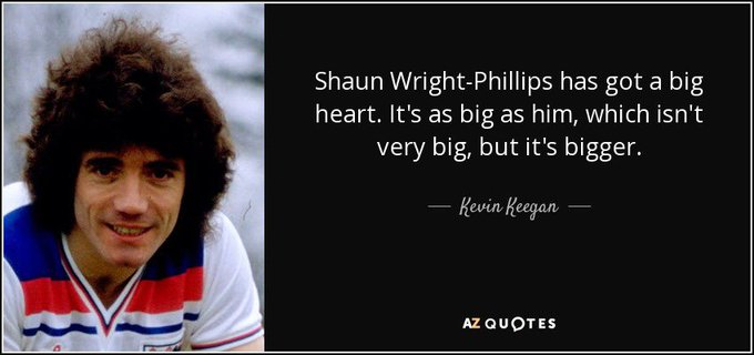 Happy 37th birthday to Shaun Wright-Phillips, the man who inspired this endearing quote from Kevin Keegan...