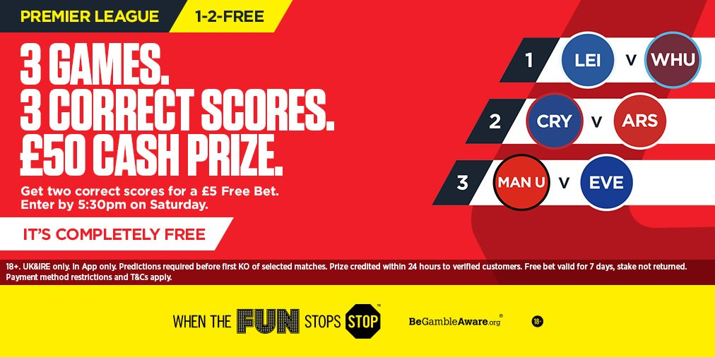 Got your 1-2-free predictions in yet? download the ladbrokes app and