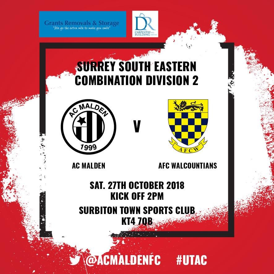 Back at home this week against @AFCW1stXI 2PM KO 🔴⚫️🔴⚫️⚽️⚽️⚽️