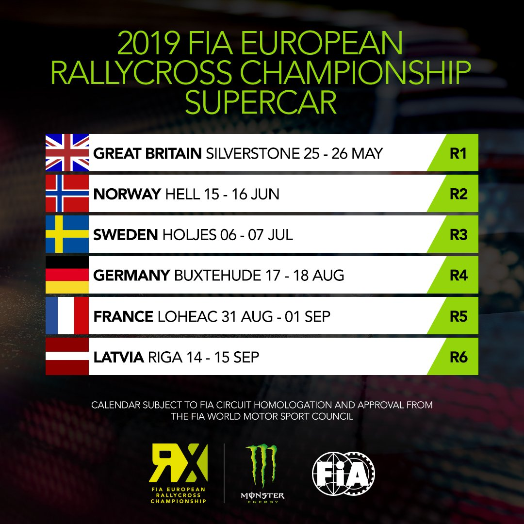 Calendrier Rallycross 2019 Championnat Du Monde.Rallycross Les Calendriers Europeens 2019 Annonces