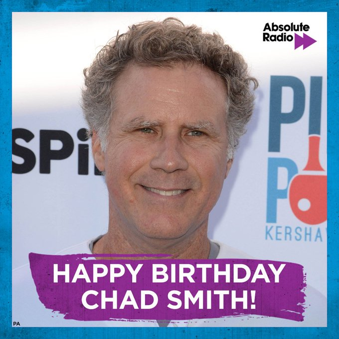 Happy birthday to drummer, Chad Smith!