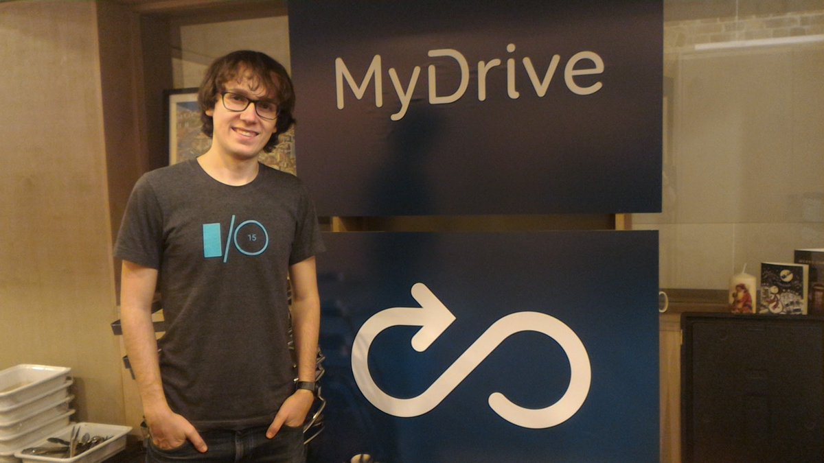 Yesterday was my last day at @_MyDrive. It was an amazing journey for me and I enjoyed every day working there 😍 Here is a photo from my first day back in 2015 📸 Now its time for new adventures!