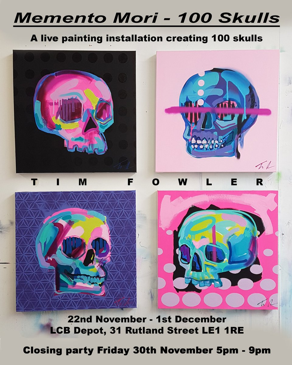 Tim Fowler On Twitter I Ll Be Painting 100 Skulls Live