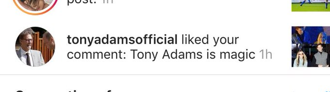 When Tony Adams wishes Caprice Bourett a happy bday - and you comment on it Tony Adams is magic..