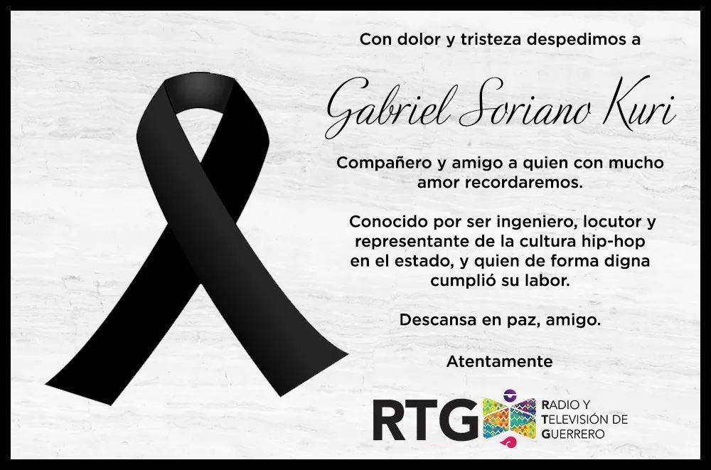Muerte del periodista Gabriel Soriano