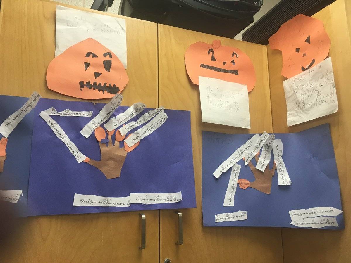 On Jack O Lantern Emotions And Sks Worked With Rhyme Ordinal Numbers And Sequencing To Create 5 Little Pumpkins Art Https T Co 05dy4ovbxs