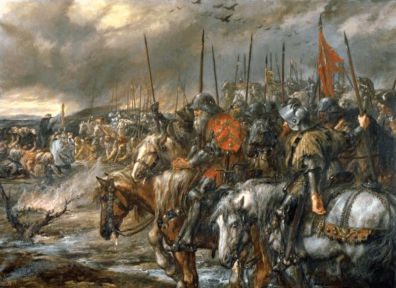 """""""We Happy Few"""" – The Battle of Agincourt and the Birth of an English Legend https://militaryhistorynow.com/2015/10/24/we-happy-few-the-battle-of-agincourt-and-the-birth-of-an-english-legend/…"""