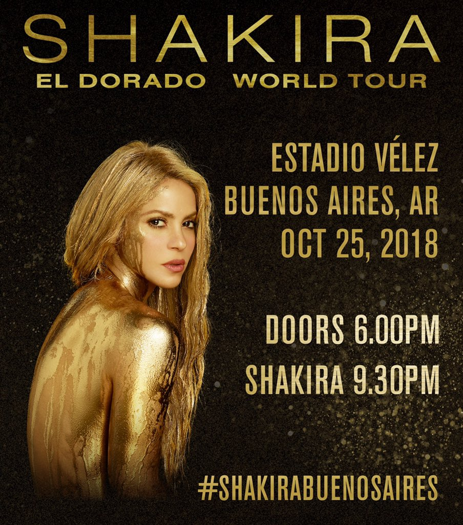 Hola Argentina! Aquí están los horarios para el show de esta noche! ShakHQ #ShakiraBuenosAires. https://t.co/PQRVxZTuFo