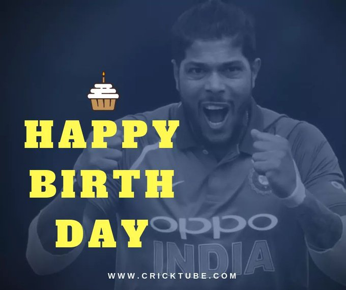 Cricktube wishes a very Happy Birthday to Indian fast bowler Umesh Yadav.