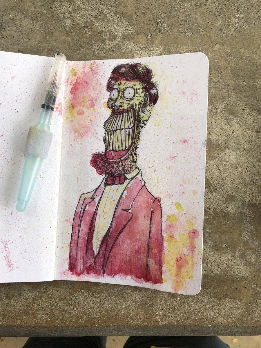 Tony Gaddis On Twitter Fancy Ink Watercolor Art