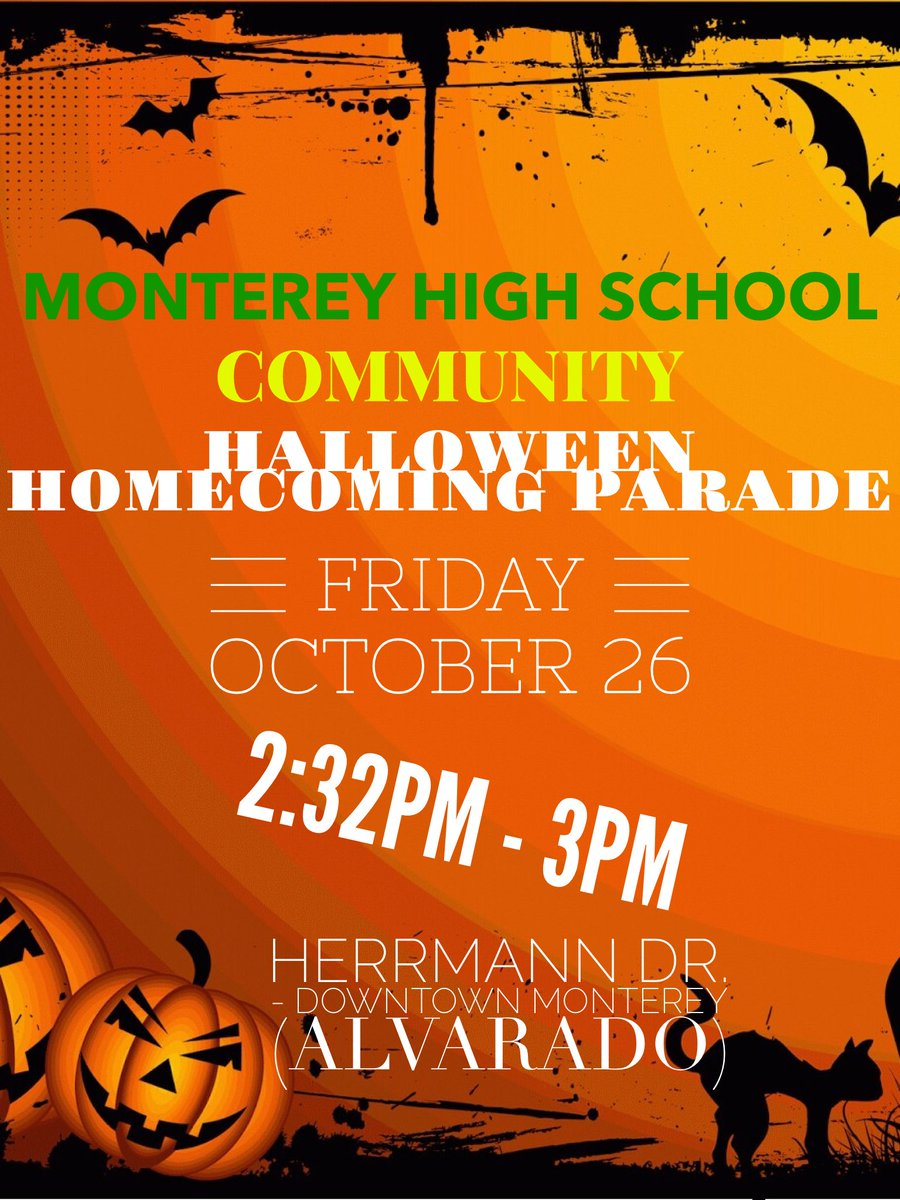 Montereypolice Will Escort Monterey High School Homecoming Parade Along The Route Detailed Belowpic Twitter Com P65hhcnkhl