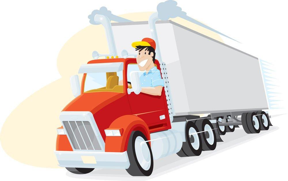 Словами благодарности, картинки для детей водитель грузовика