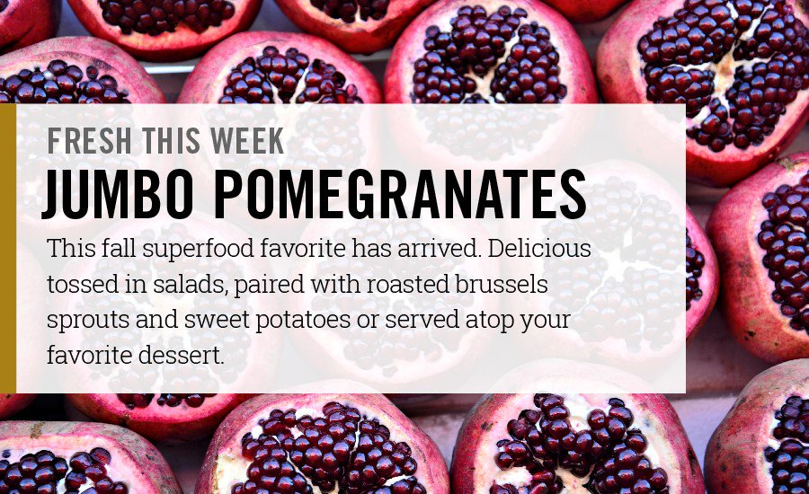 Fresh & in stores now! Delicious pomegranates! https://t.co/5SAPab4Lx8