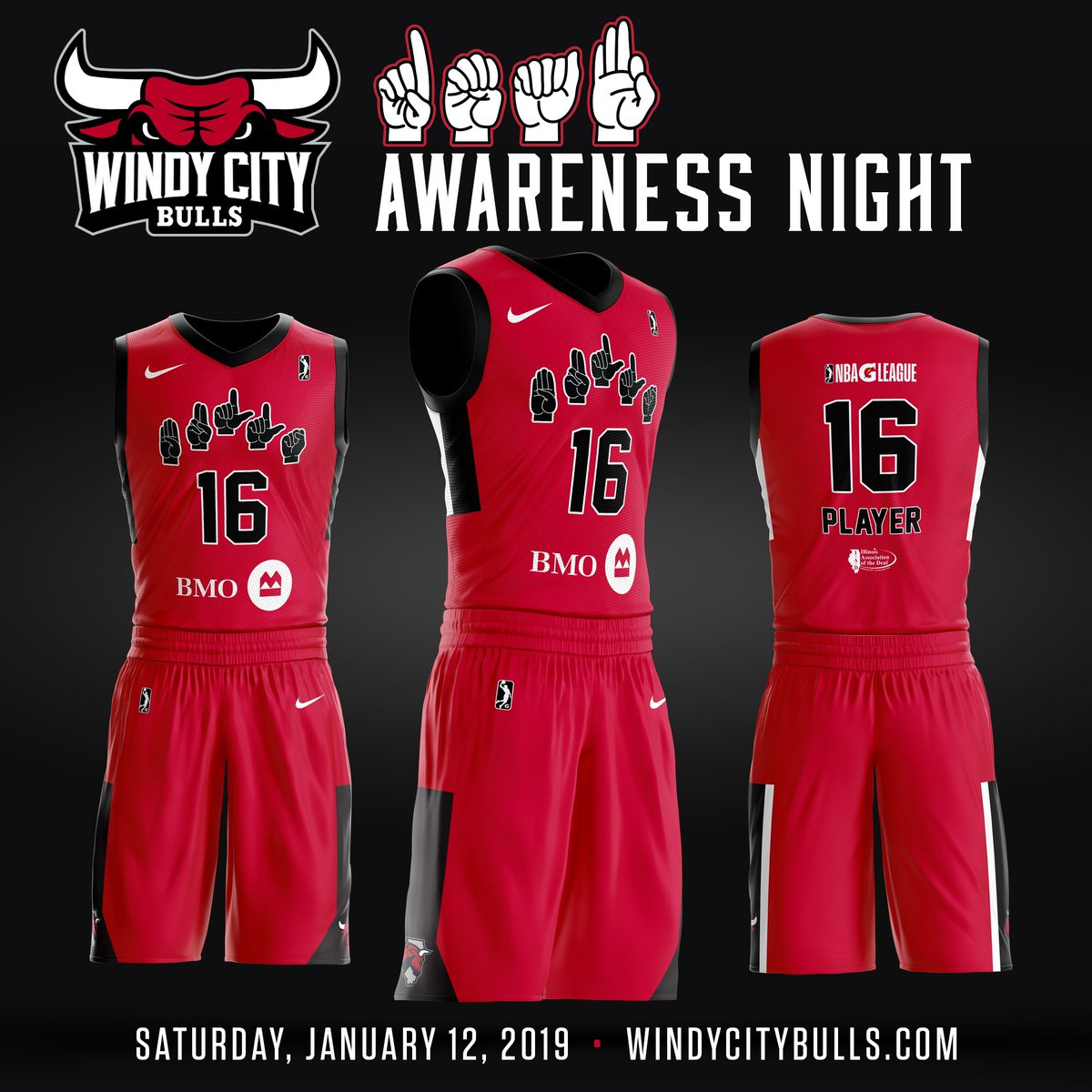 0885632e9 wait  til you see the Windy City Bulls in these special Deaf Awareness  Night jerseys. All jerseys will be auctioned off on Saturday