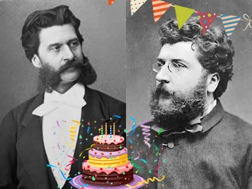 Opera Tampa On Twitter Happy Birthday To Georges Bizet And Johann