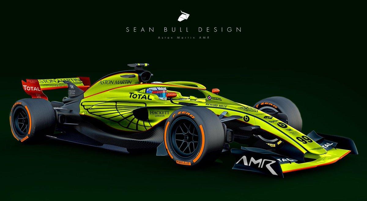 Sean Bull Design V Twitter Full Work Aston Martin Amr Livery On The F1 2021 Concept 1 F1 F12021 Formula1 F12018 Astonmartin