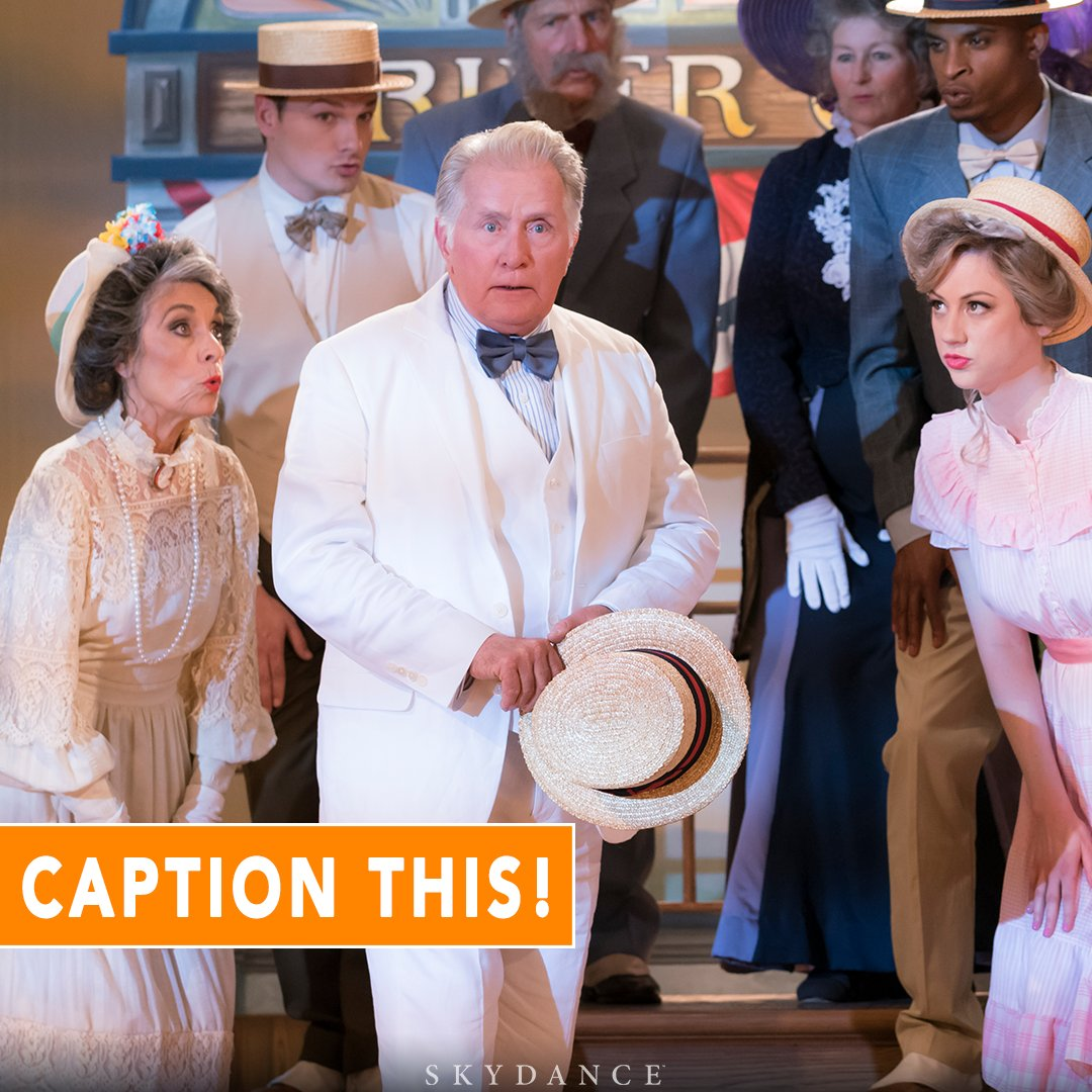 The stage is yours! #CaptionThis #GraceandFrankie