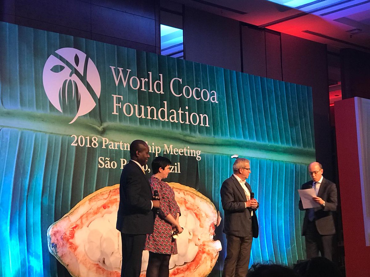 """""""I'm very happy that #WCFPM has taken place in Latin America in the origins of cocoa, where you can really perceive its aroma."""" Francisco Gómez, our Innovation and Business Manager, and also a member of the board of directors of @WorldCocoa, giving conclusions about the event. https://t.co/pOaEJPcdEA"""