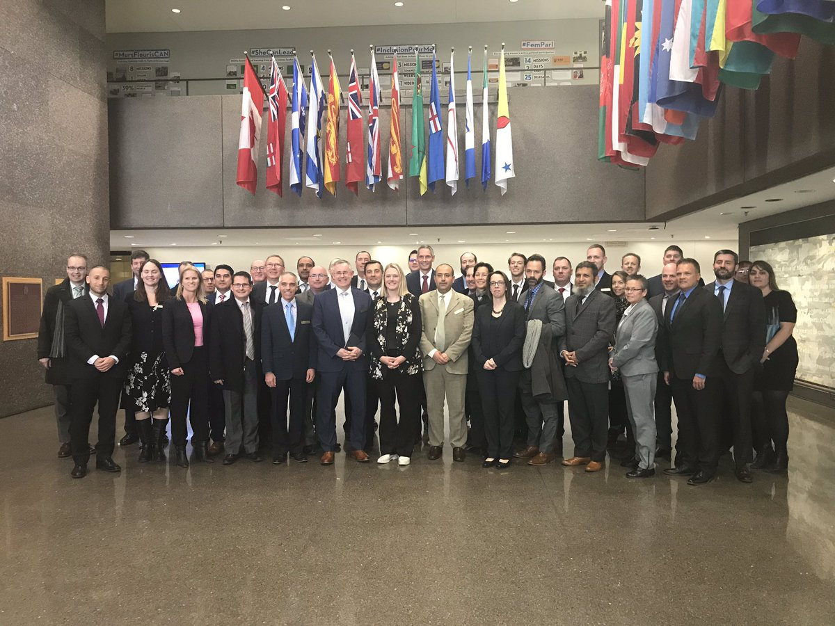 Talking trade and global affairs with officials at @GAC_Corporate and the #Nationalsecurityprogram. Our two departments work collaboratively on a range of activities and programs