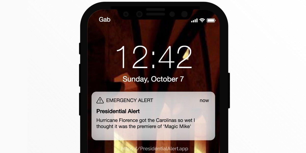 Presidentialalertapp On Twitter Hurricane Florence Got The