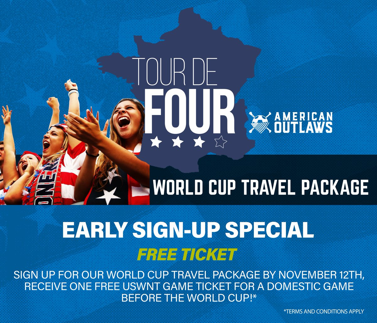 ... travel package) before the team heads to France next summer!  https   www.americanoutlawstravel.com d womens-world-cup-2019  …pic.twitter.com hDU6CMWsfX 25c2304ccba75