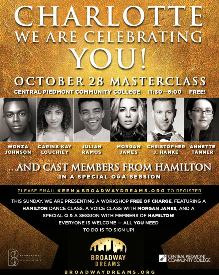 Celebrating Voices October 30th Your >> Blumenthal Performing Arts On Twitter Don T Throw Away Your Shot