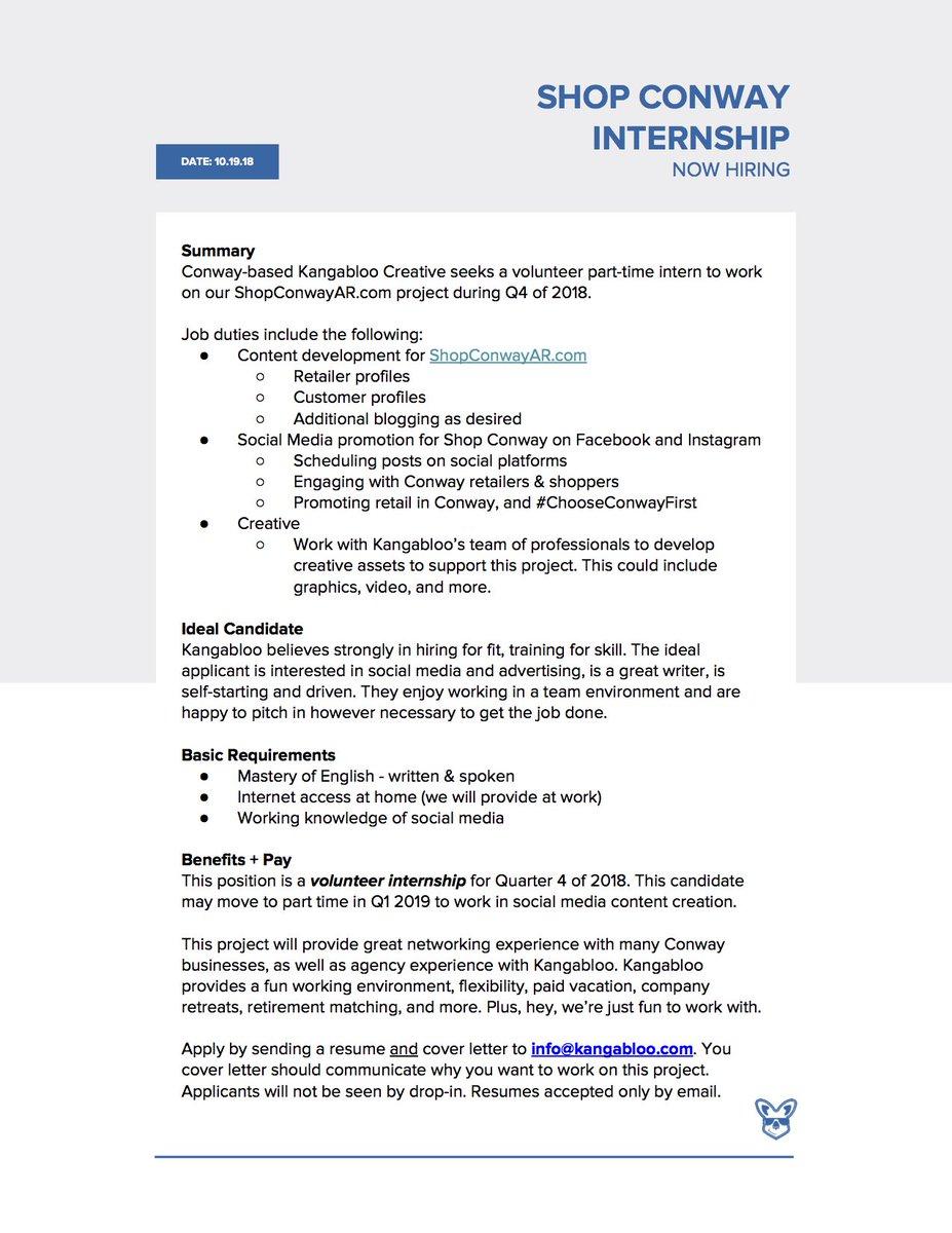 Uca Communication On Twitter Internship Conway Based