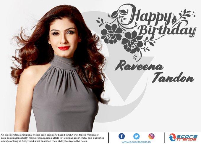 Score Trends wishes Raveena Tandon a Happy Birthday !!