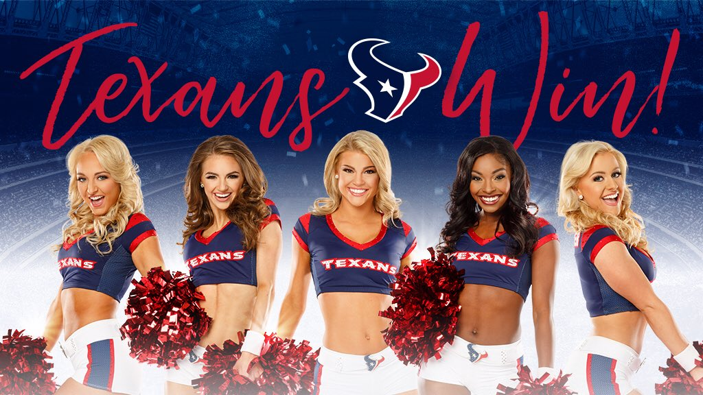We could get used to this!! Way to go #Texans‼️