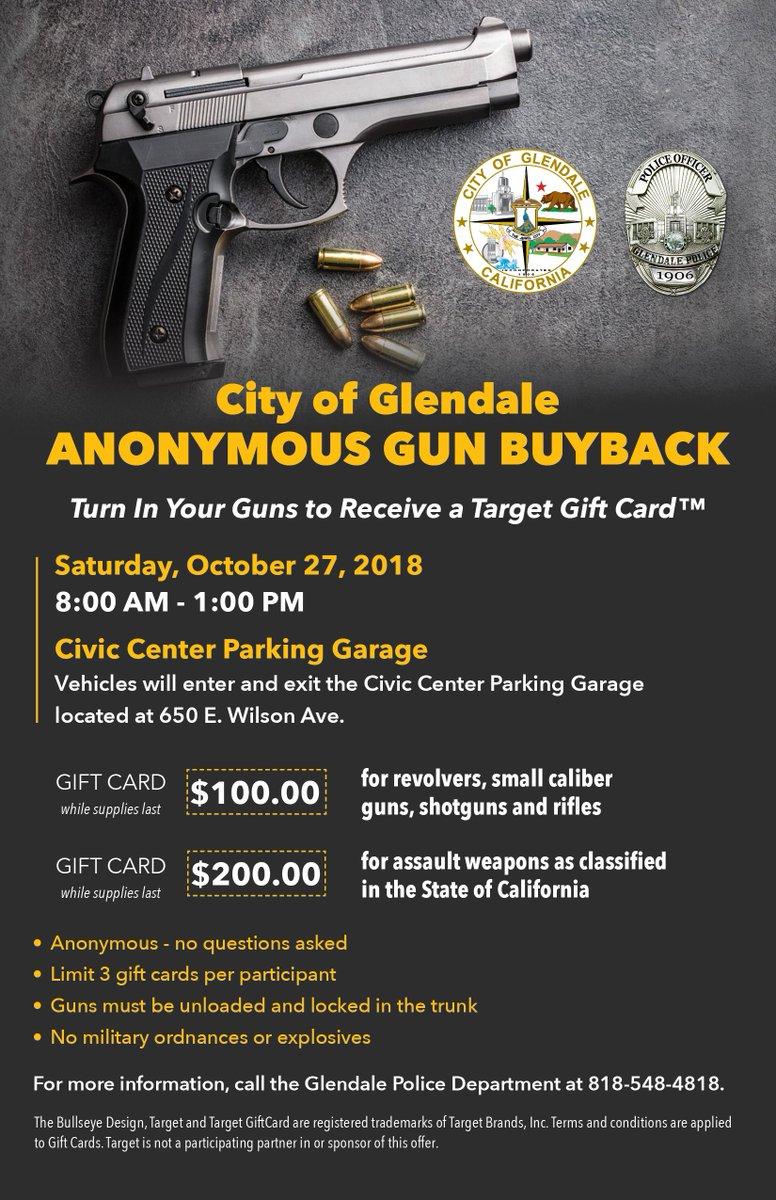 Anonymous Gun Buy Back this Saturday! #GlendalePD #GunBuyBack #MyGlendale