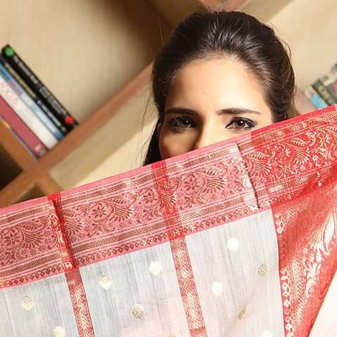 f6f6b344290 Sparkle this festive season in hand made Chanderi Sarees sourced directly  from weavers of Chanderi. Price on Request  fashion  indian  sarees   festival ...
