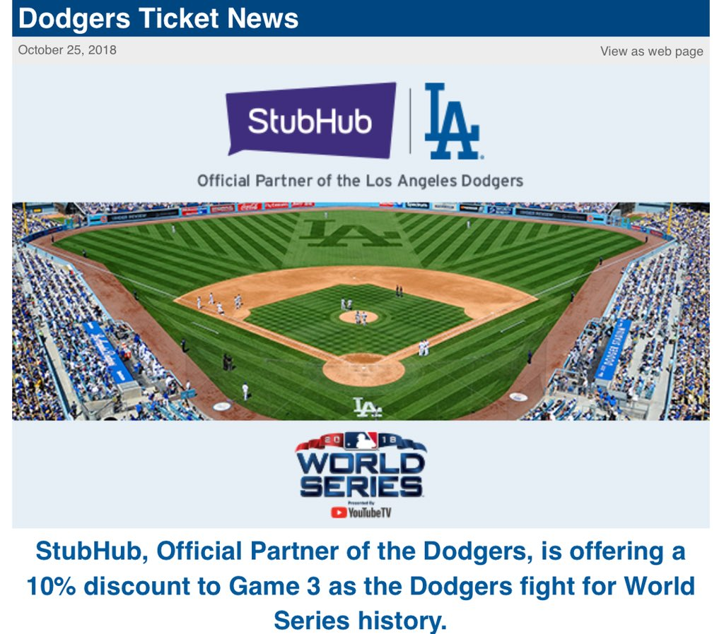 With dodgers down 0-2, resale prices in los angeles have fallen