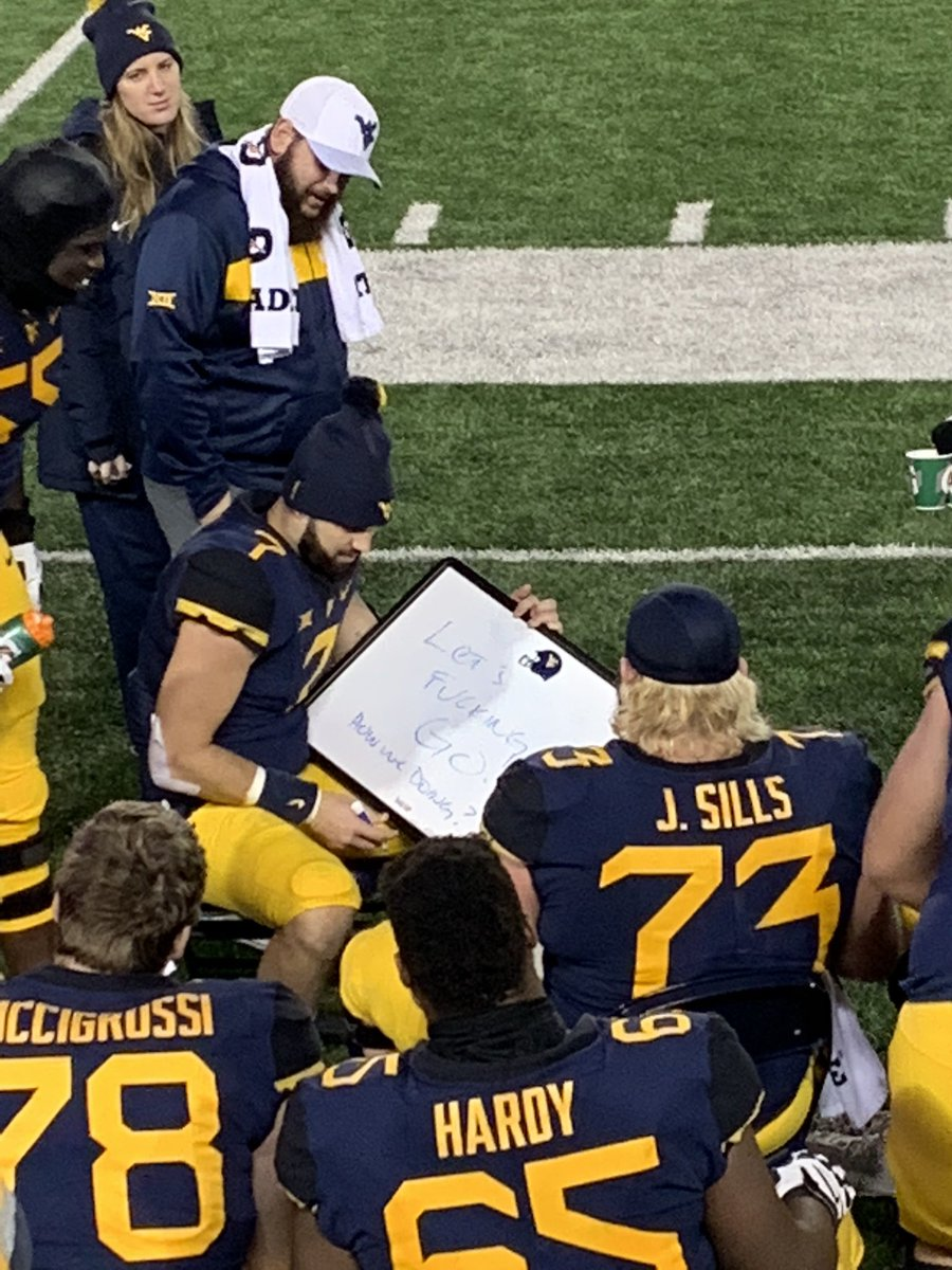 West Virginia QB Will Grier should be the No. 1 overall pick based off this white board message