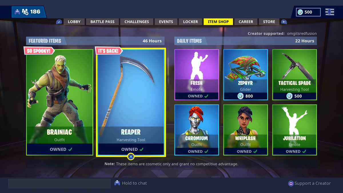 I am hosting a $20 Fortnite giveaway for the return of the Reaper Scythe and New Brainiac skin! To Enter: 1. RT and Like this tweet 2. Follow Me on Twitter 3. Turn on Twitter Notifications 4. Tweet proof of steps done Winner will be picked tomorrow 10/26/18 at 9:00 PM EST!