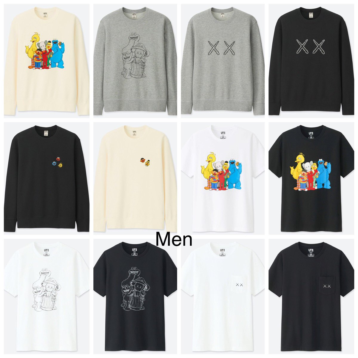 a54232efb New KAWS x Sesame Street x Uniqlo complete collection dropping 11/19.  https://www.uniqlo.com/us/en/ut-graphic-tees/kaws-x-sesame-street …pic. twitter.com/ ...