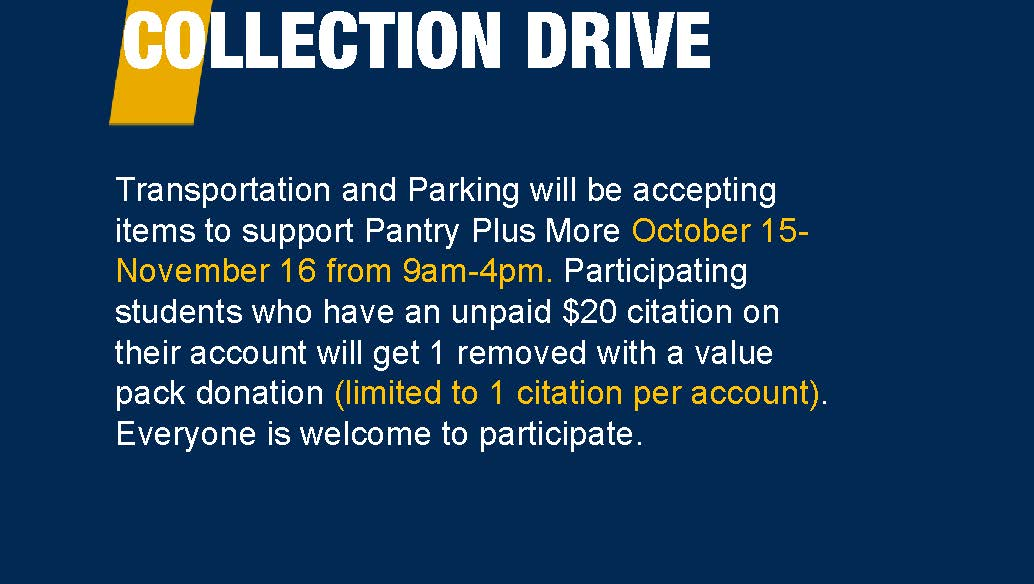 Wvu Transportation And Parking On Twitter Collection Drive