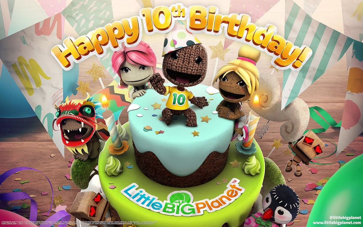 Amazing Littlebigplanet On Twitter Happy Birthday Sackboy Celebrating Birthday Cards Printable Riciscafe Filternl