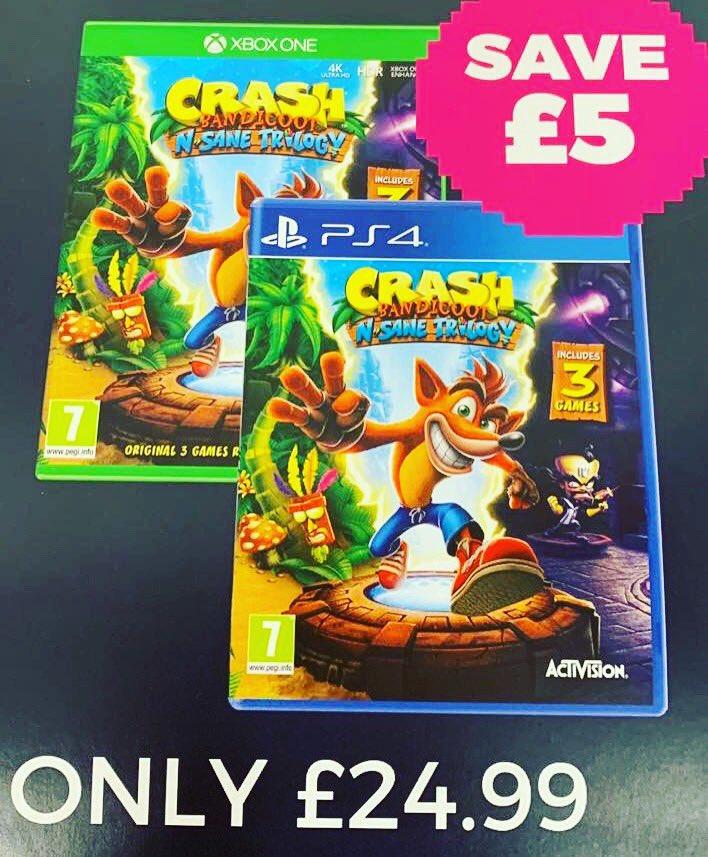 Crash Bandicoot Christmas.Morfa Shopping Park On Twitter Save 5 On Crash Bandicoot