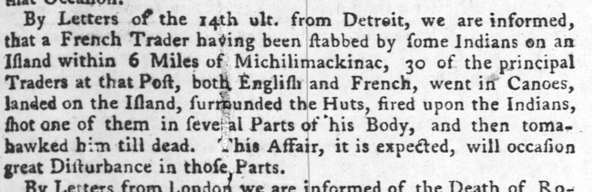 1770 : Mackinac Island Frontier Justice