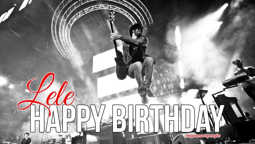 Replying to @Negramaropeople: Buon compleanno Mr Lele!! ❤️💥 🎸
