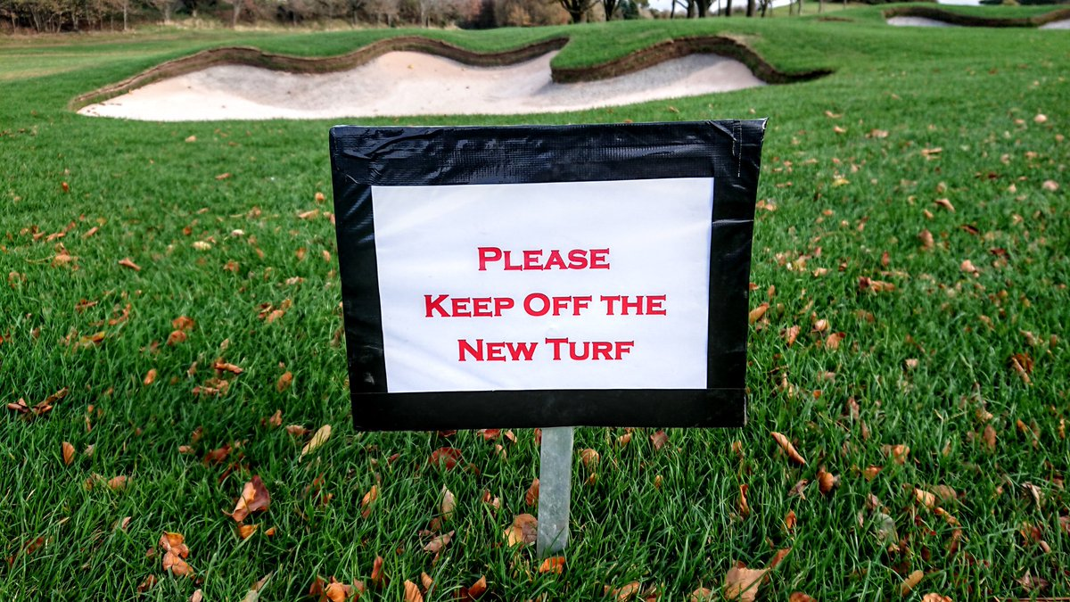 test Twitter Media - All the newly turfed areas on the course have now been roped off. Can you please stick to this rule unless retrieving your ball. https://t.co/08FD2pEAi2