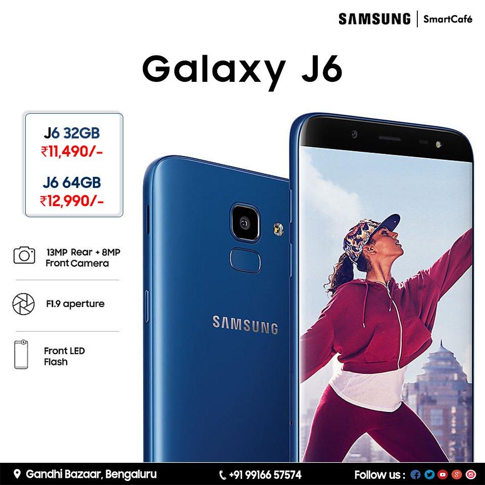 a9f3890fa9f Samsung Smart Cafe Gandhi Bazaar Samsung Galaxy J6 with Infinity Display &  Infinite Entertainment Visit our nearest Samsung Smart Cafe at Gandhi  Bazaar ...